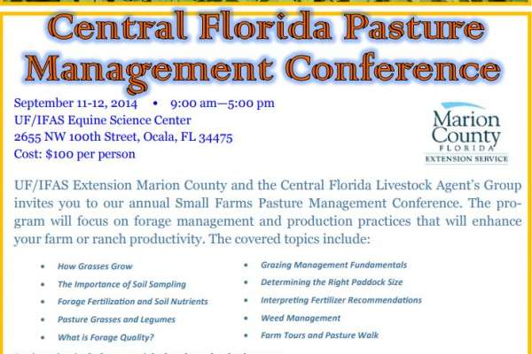 Central Florida Pasture Conference 2014