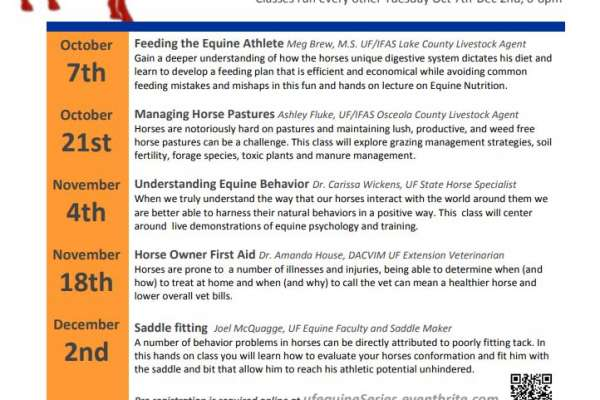 Equine Lecture series 2014